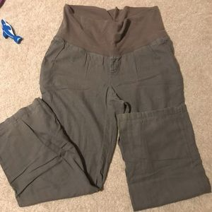 Old Navy roll top maternity pants